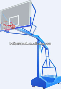 Manual movable basketball stand