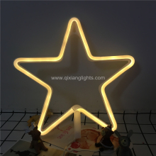 New product battery operated 3d motif star light LED neon desktop light