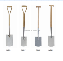 High quality stainless steel spade and fork with ash wooden handle