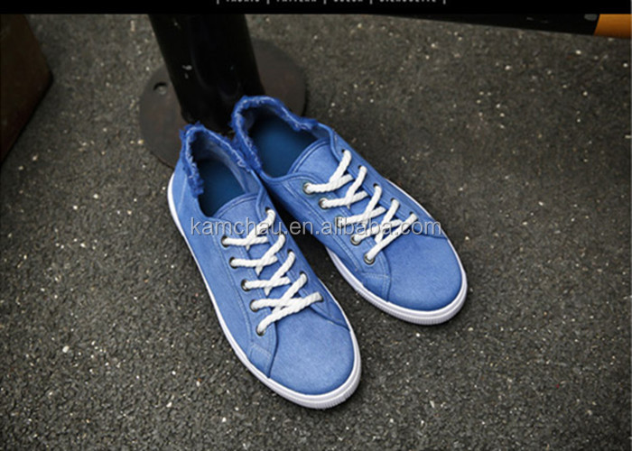 2017 bulk wholesale fashion comfortable wearing lace up low top thin bottom canvas upper blue men casual espadrille shoes