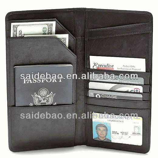 2015 pu leather multiple vertical two side pocket card holders