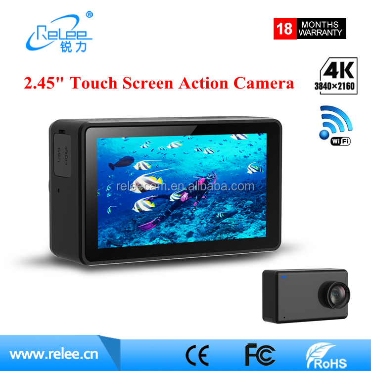 WiFi 4K 30FPS 2.45 inch Touch Screen Remote Action Mini Camera Waterproof NTK96660 Helmet Sports DV