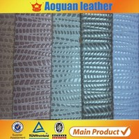 Fashion composition pu/pvc leather for shoes/handbag,polyester composition leather made in China
