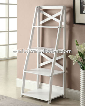 Simple ladder wooden bookshelves/wooden bookshelves/bookcases