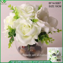 Cheap Wholesale High Quality Artificial Flowers For Wedding Decoration , Silk rose and amaryllis flowers bouquet combination