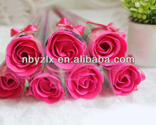 Promotional rose shaped soap / soap flowers / soap flower carving for Valentine's day