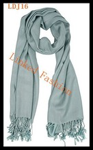 Solid color Lady's fashion acrylic scarf pashmina winter shawl wrap scarf