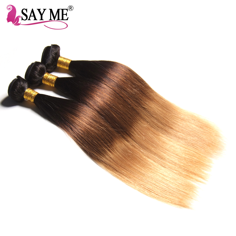 1b 4 27 Best Sales Products In Alibaba Ombre Brazilian Hair In Mozambique Three Tone Straight Shoulder Length Hair Style