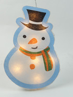 new window decoration hard cotton christmas light snow man