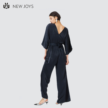 Sex Party Wear Satin Jumpsuit Women Sexy Backless Ladies Clothing
