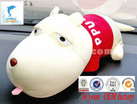 white dog with red shirt plush toy manufacture