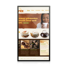 55 inch touch screen wifi led display android tablet