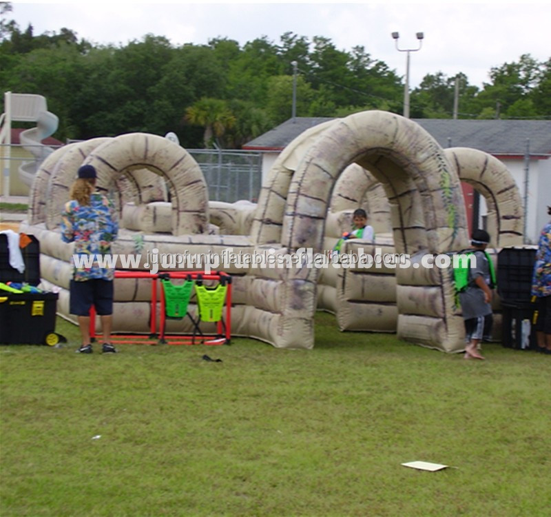 inflatable water laser tag for kids/Outdoor inflatable maze for water laser field use
