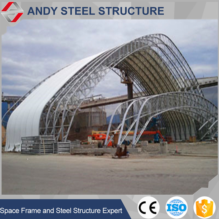 China supplier new design coal shed storage steel space frame