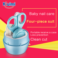 Lovely Mini Baby Nail Care Practical Clipper Trimmer Blue Pink Convenient Daily Baby Nail Care Set