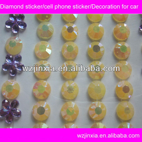 Shinny Acrylic custom diamond home key button sticker