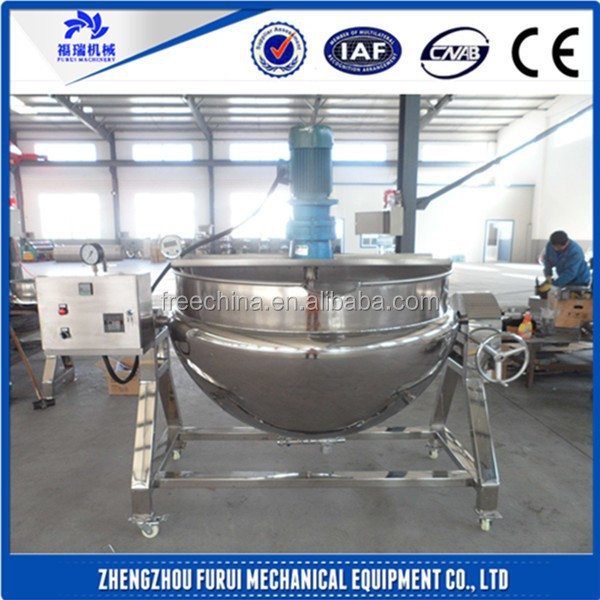 Top quality food mixer heated/steam jacketed kettle/industrial cooking pots with mixer