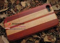 Real Red wood and Maple Wood Mobile Phone Case For Iphone5