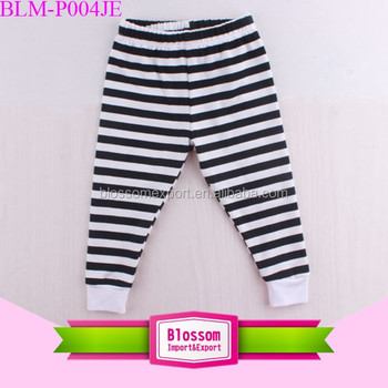 Children trousers cotton black and white stripes boys/girls pants jogging pants kids pants