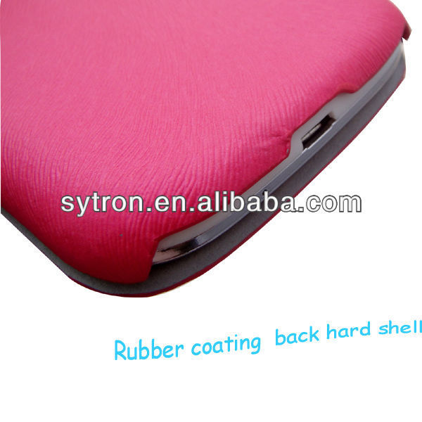 pu coated leather for Samsung Galaxy S3 i9300 case