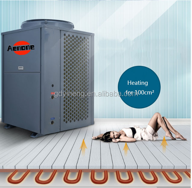 Europe energy label 8kW 10kW DC inverter air source heat pump water heater for -25C winter heating room