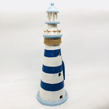 Wooden lighthouse with fish decorate in favorable price