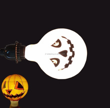 2016 New Halloween Holiday Decoration Light Bulb Vintage Pumpkin Bulb G125