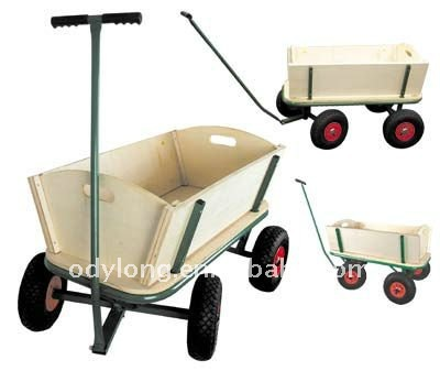 cheap kit toy tool wooden carts / toy car trolleys