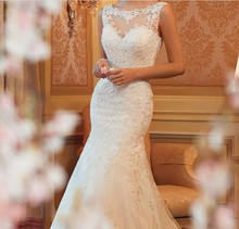 ZH1297C Exquisite Boat Neck Sexy Low Back Wedding Lace Ladies Wedding Dress