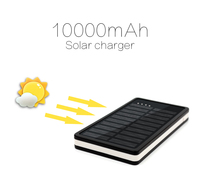 2016 new arrival portable super slim solar power bank wholesale cell phone charger