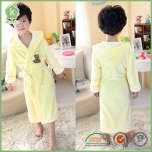 Knitted Fabric Wearable Heated Bathrobe For Kids