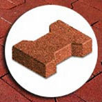 Outdoor Rubber Pavers Tiles Bricks For