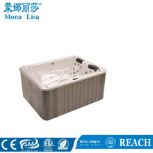 1900*1600*840mm dimension 3 people use compact type portable hotel use Acrylic outdoor massage spa corner hot tub (M-3336)