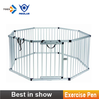 EP-OCT Portable Aluminum Pet Exercise Play Pen Professional Pet Product