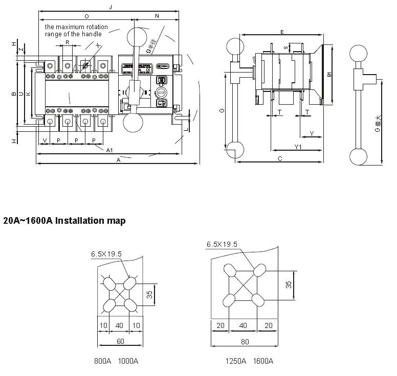 3 u00264 pole 3 phase dual power automatic transfer switch ats