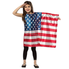 Wholesale National Day kids flag cape costumes