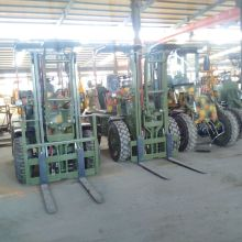 4 Wheel Drive Front Loader with Forklift attachments