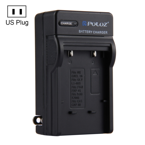 Dropshipping OEM PULUZ US Plug Digital Camera Battery for Nikon EN-EL10, Olympus LI-40B, FUJI FNP-45, Kodak K7006