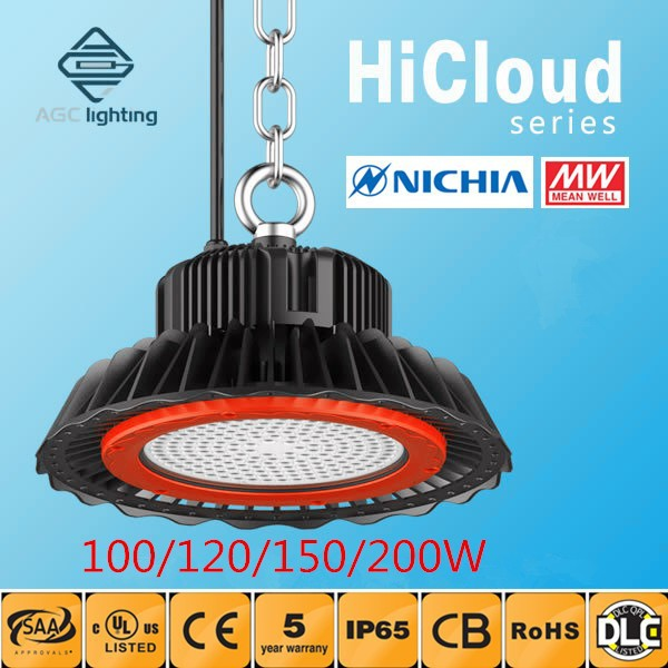 Original Japan Nichia Led Meanwell Driver 130lm/w Led High Bay IP65 Industrial Bay Light