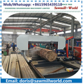 band saw machine for cutting tree truck