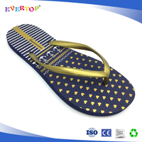 New arrival basic black printed custom flip flop for lady
