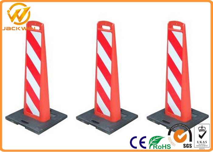 Reflective Plastic Traffic Delineator Post Warning Sign Board for Road Safety