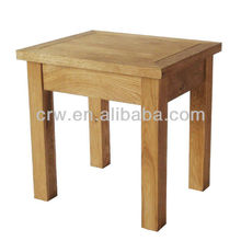 OA-4054 Cheap Wooden Movable Solid Oak Side Table