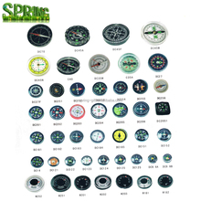 Quality Various style Mini compass / different Size Compass/ Clear Liquid-filled Plastic compass