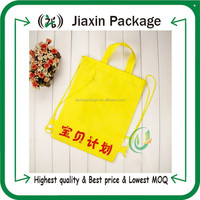 2015 recyclable non woven shoppig bags price in dubai with drawstring