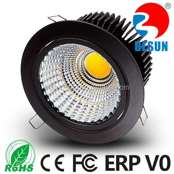 Customized cob downlight led 30w high performance 3700lm black/ white finishing