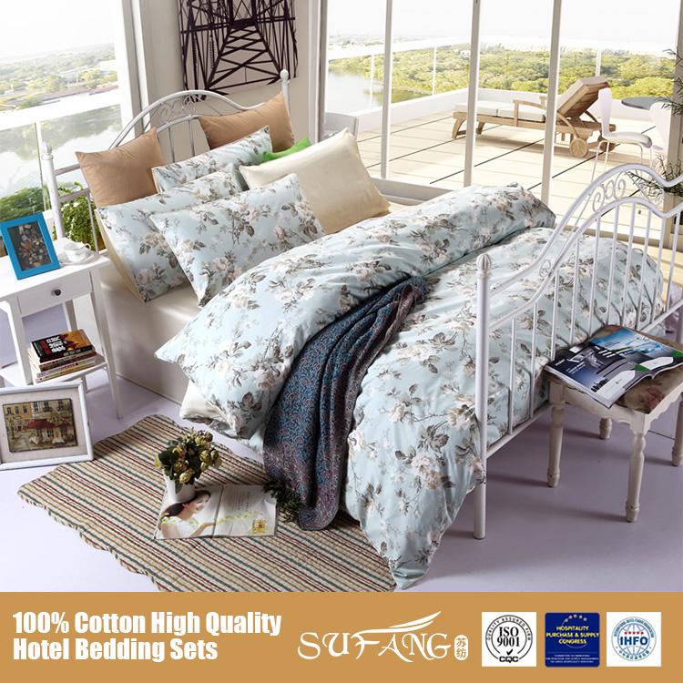 Light Color Fashion Design Home Textile Bedding Sets 4 Pcs Flat Sheet Duvet Cover Pillow Case
