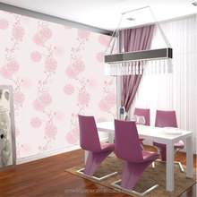 Beauty Flower Wallpapers Pink Color PVC Material wall paper Korean Wallpaper