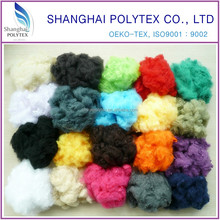 1.5Dx38MM 100% recycled dyed solid chemical polyester staple fiber