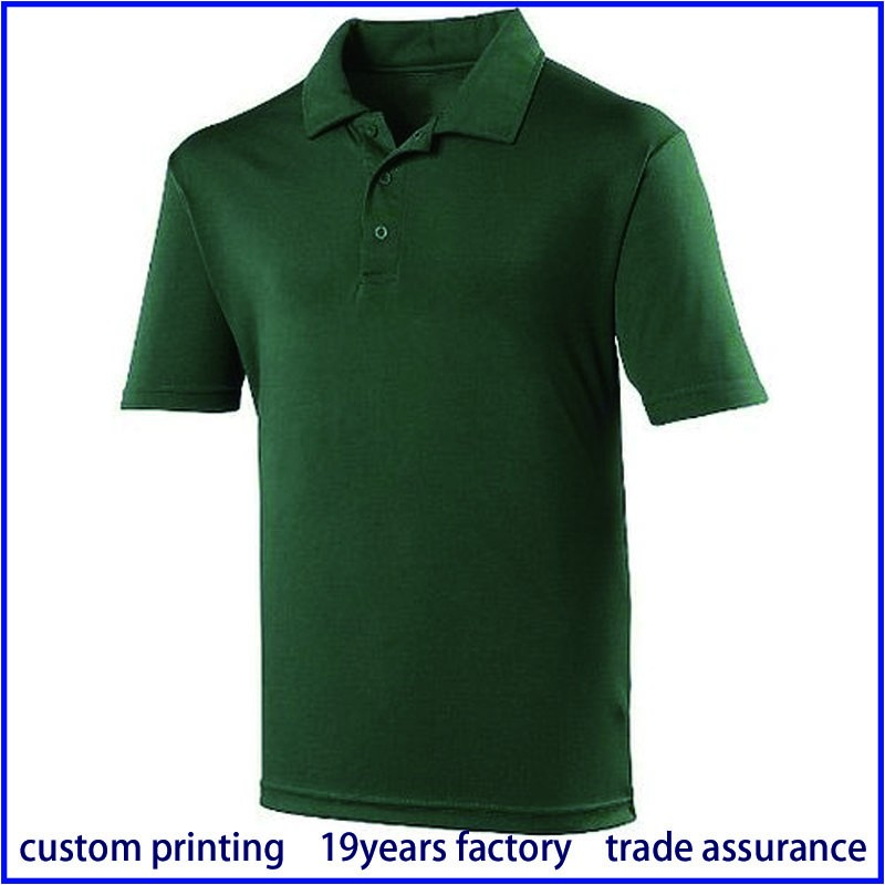 custom logo single jersey pique fabric polo shirt buy